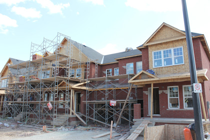 Milton Trails Townhomes Construction