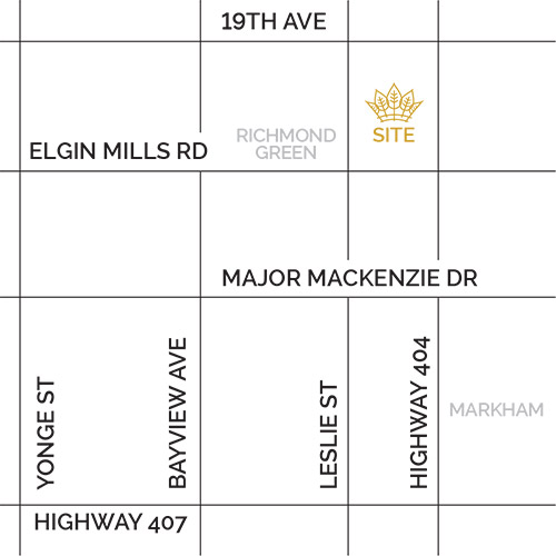 Richlands in Richmond Hill site map by Fieldgate Homes
