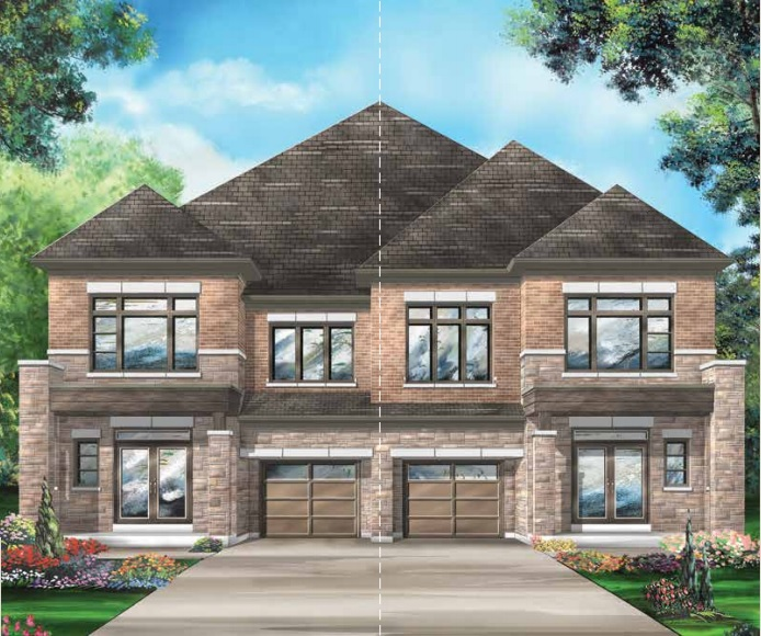 Semi-detached home at Richlands in Richmond Hill by Fieldgate Homes