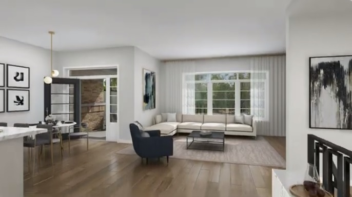 aTowns in Ajax living room from virtual tour