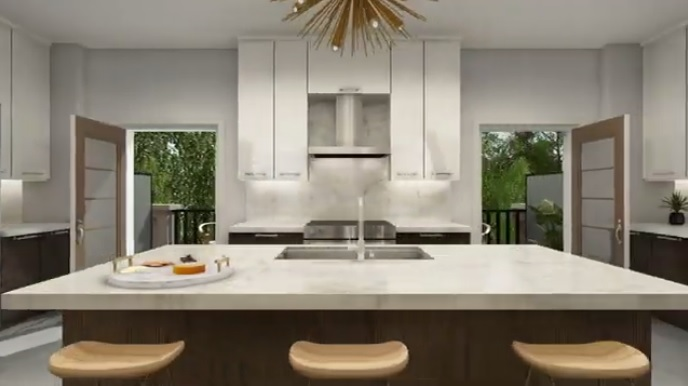 aTowns in Ajax kitchen from virtual tour
