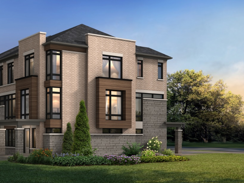 Townhome rendering of aTowns in Ajax by Fieldgate Homes